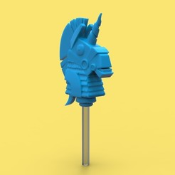 Download 3D printing models Fortnite Rainbow Llama head for pencils or pens, thePixelsChips