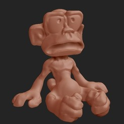 Cattura_di_schermata__11__edited.jpg Download free STL file Tecnoscimmiati Monkey • Model to 3D print, thePixelsChips