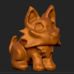 Cattura_di_schermata__16__edited.jpg Download free STL file Puppy Wolf • 3D printing model, thePixelsChips