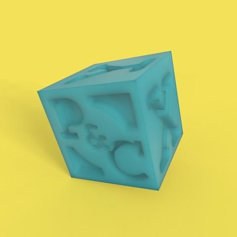 Télécharger plan imprimante 3D gatuit cube de banc, thePixelsChips