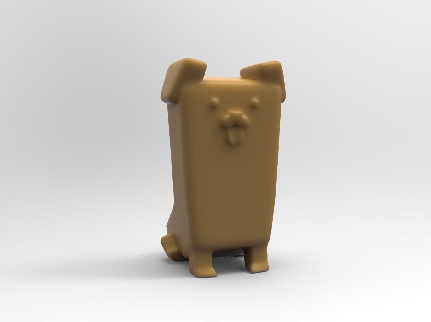 canesitting.jpg Download free STL file Un cane (a dog) seduto • 3D printing model, thePixelsChips