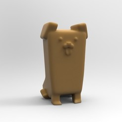 Free 3D printer model Un cane (a dog) seduto, ilovedoom