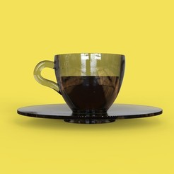 Download 3D printing templates just a coffee cup for espresso, thePixelsChips