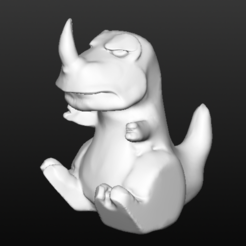 fuckevo.PNG Download free OBJ file Grumpy Carnotaurus • 3D printer template, thePixelsChips