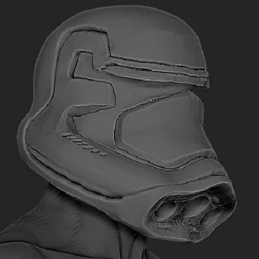 Download free 3D printer templates Star Wars VII Force Awekens Storm Trooper Helmet, thePixelsChips