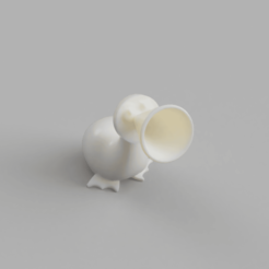 alice_creature1_2020-May-28_04-20-02PM-000_CustomizedView3113616414.png Download STL file Horn Duck from Alice In Wonderland • 3D printable template, thePixelsChips