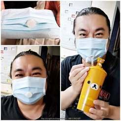 Descargar archivos STL gratis Agujero de agua potable de la máscara - También puedes beber agua mientras usas una máscara, mingshiuan