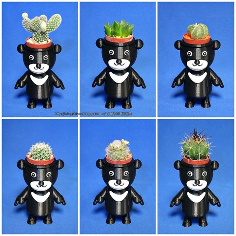 BEAR-BRAVO_03.jpg Download free STL file  BEAR BRAVO Potted plants • 3D print template, mingshiuan