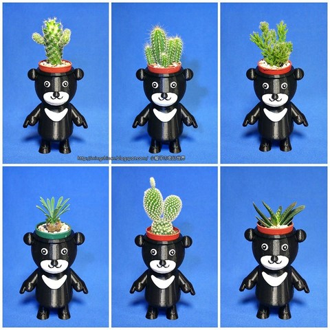 BEAR-BRAVO_02.jpg Download free STL file  BEAR BRAVO Potted plants • 3D print template, mingshiuan