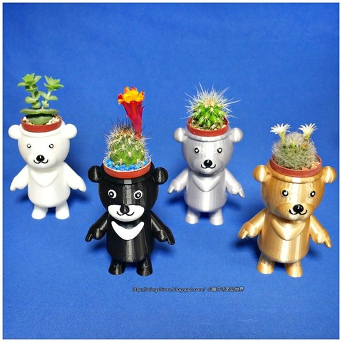 Download free 3D printing files  BEAR BRAVO Potted plants, mingshiuan
