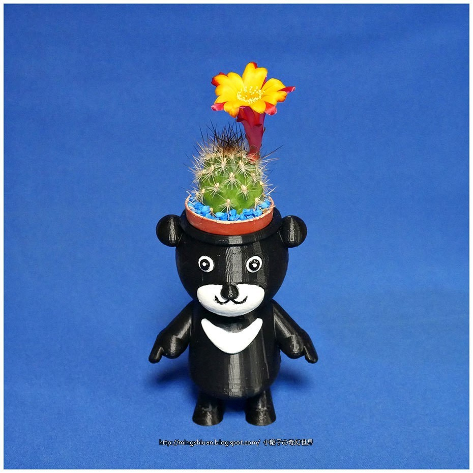 BEAR-BRAVO_15.jpg Download free STL file  BEAR BRAVO Potted plants • 3D print template, mingshiuan