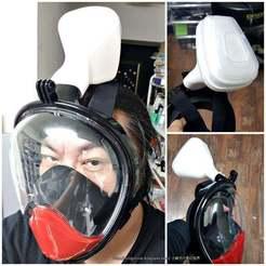 Descargar archivo STL gratis Covid-19 Dechatlon / TheNice / Otra máscara 3M 5N11 Filtro de partículas N95 Adaptador • Diseño imprimible en 3D, mingshiuan