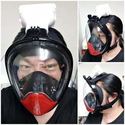 covid19-mask-13.jpg Download free STL file Covid-19 Dechatlon / TheNice / Other mask Hepa Filter Adapter • 3D printable model, mingshiuan
