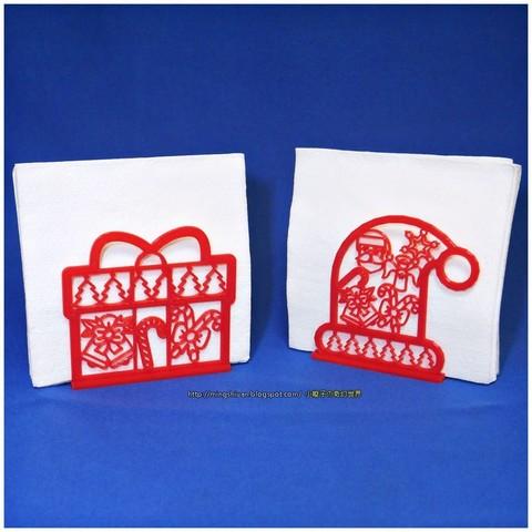 Imprimir en 3D gratis Sostenedor de servilleta de Navidad, mingshiuan