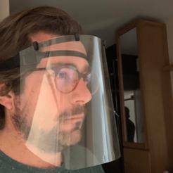 Descargar STL gratis gafas de la máscara de la visera, cyriluba