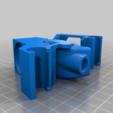 Download free 3D printing templates X_Carriage DiscoEasy200 remix for hotend AIo EvO, Fourmi