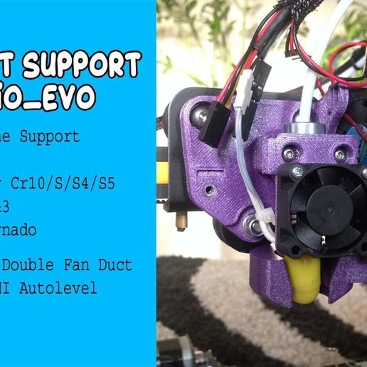 Download gratis 3D-printerbestanden Smart Support Hotend AiO (CR10 (S, PRO), Tornado, Ender ...), Fourmi