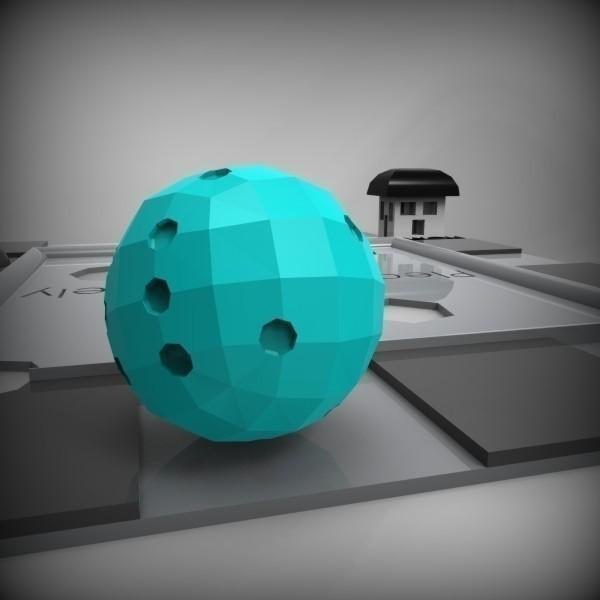 """Spherical_Die_-_Background_3_-_Teal_display_large.jpg Download free STL file David OReilly's """"Spherical Die"""" • 3D printing design, GeneralElectric"""