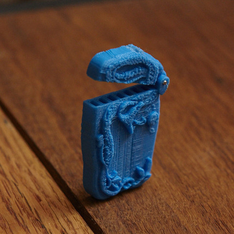 "Free 3d printer files Cooper-Hewitt, National Design Museum's ""Matchsafe"", GeneralElectric"