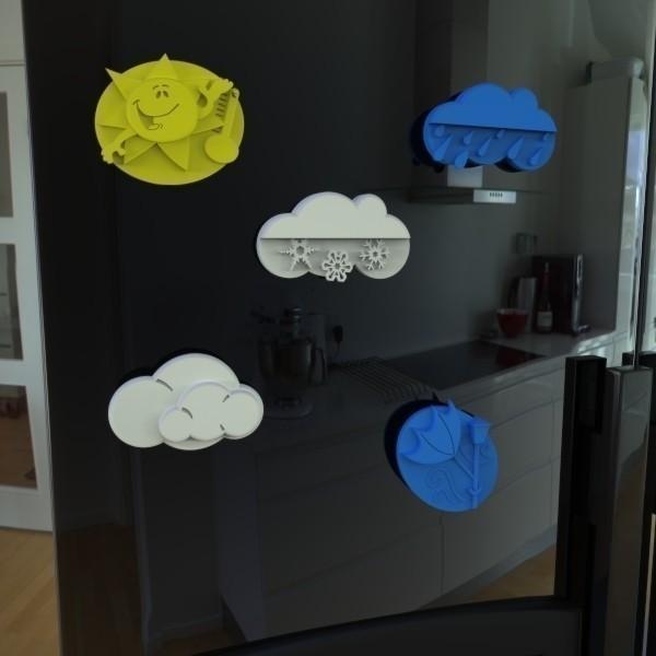 """2.jpg Download free STL file Al Roker's """"Weather Magnets"""" • 3D print design, GeneralElectric"""