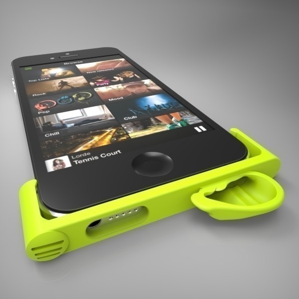 "2.jpg Download free STL file Spotify's ""iPhone 5 Amplifier"" • 3D printable template, GeneralElectric"