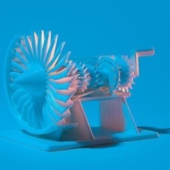 Download free STL file Build Your Own Jet Engine • 3D printing template, GeneralElectric