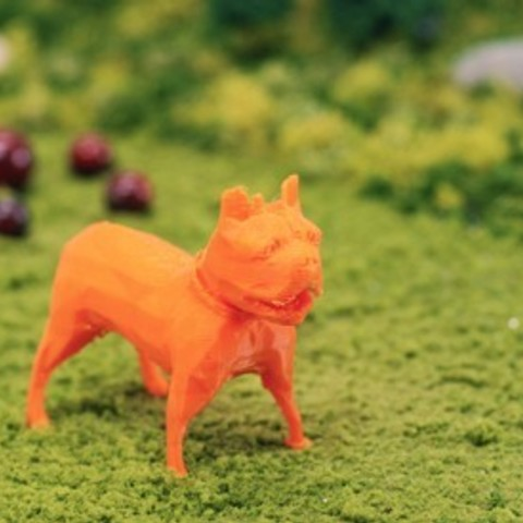 Free 3D printer designs French Bulldog, GeneralElectric