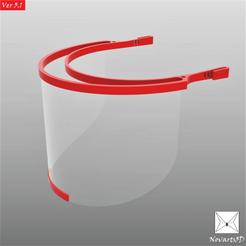 Descargar archivos STL Face Shield COVID 19 by Novarts3D, mijares25