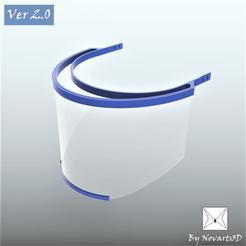 Descargar Modelos 3D para imprimir gratis Face Shield COVID-19 (Ver 2.0), mijares25