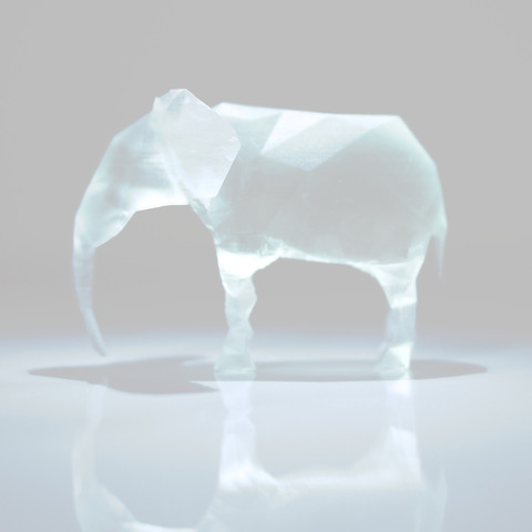 Free 3D file Polygon Elephant, IDEABOX