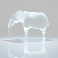 Download free 3D printer templates Polygon Elephant, IDEABOX