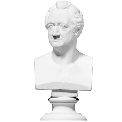 Download free STL files Bust of Johann Wolfgang von Goethe (Photosculpture), ThreeDScans