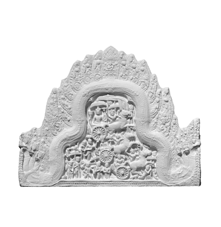 Capture d'écran 2018-09-13 à 17.13.15.png Download free STL file Plaster Cast of False Pediment of Room for Dancers of Ta Prohm • 3D printable template, ThreeDScans