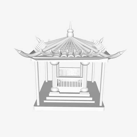 Free stl Chinese Pavilion, leemahpark