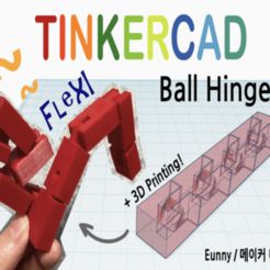 Download free 3D printing designs Ball Hinge Basic with Tinkercad, Eunny