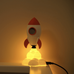Descargar diseños 3D gratis Reloj con cohete para dormir, sidneylopsides