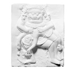 Descargar diseños 3D gratis Molde de yeso de la parte central del dintel este de Prasat Krahom que representa a Vishnu Narasimha., ThreeDScans