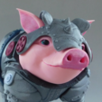 Download free STL file Sir Pigglesby (a most noble piggy bank) • 3D printer model, loubie