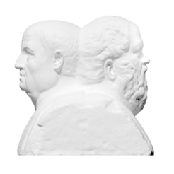 Descargar Modelos 3D para imprimir gratis Doble Herm con Sócrates y Séneca, ThreeDScans