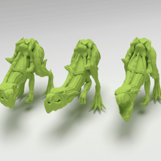 Download free 3D printer files Gnarly Beasts ridden by Cannibal Chickens, FelixTheCrazy