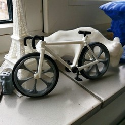 Free 3D printer designs bicycle race model, jasperbaudoin