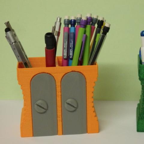 Free STL files Pencil box / Pot a crayon, Boxplyer