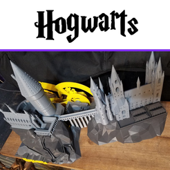 Plan 3D gratuit Hogwarts School of Witchcraft, Valient