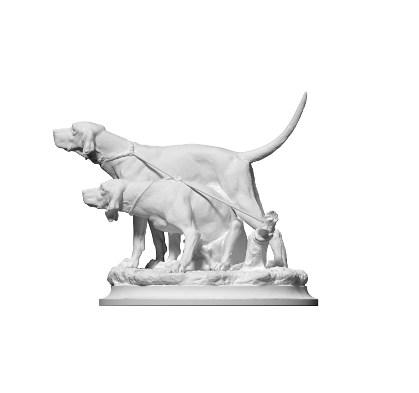 Capture d'écran 2018-09-13 à 15.29.08.png Download free OBJ file Two pack dogs in the tie • 3D printer object, ThreeDScans