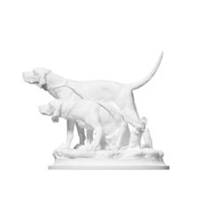 Imprimir en 3D gratis Dos perros de carga en la corbata, ThreeDScans