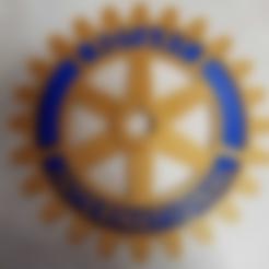 Rotary_Wheel_Blue.stl Télécharger fichier STL gratuit Symbole du Rotary International - Double extrusion • Design imprimable en 3D, abbymath