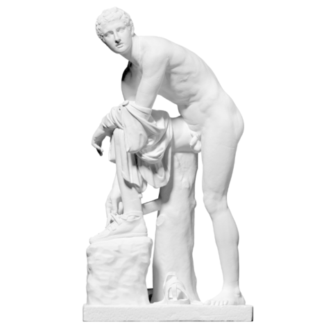 Capture d'écran 2018-09-13 à 17.37.28.png Download free OBJ file Hermes Fastening his Sandal • Template to 3D print, ThreeDScans