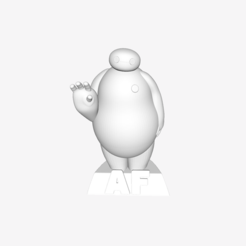 Free 3D printer model Baymax, leemahpark