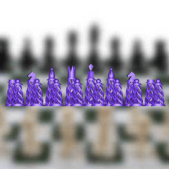 Capture d'écran 2020-01-02 à 11.37.13.png Download STL file Chess Pieces and Chessboard Model • 3D printing object, sammy3
