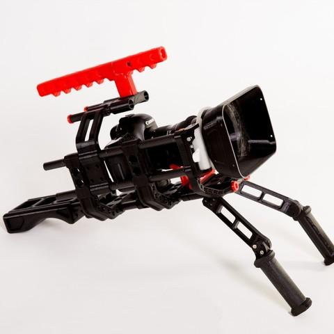 Download free 3D model 3D print shoulder rig V2.0, SWANGLEI